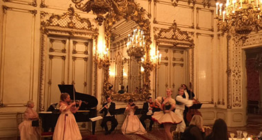 Sharon enjoyed dinner and a fabulous private concert in the stunning Palais Pallavicini, hosted by Prince Eduardo